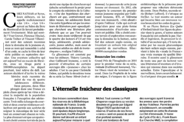 Le Figaro Littéraire, 26 novembre 2015