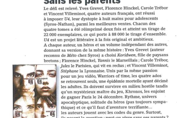 Livres Hebdo, 30 octobre 2015