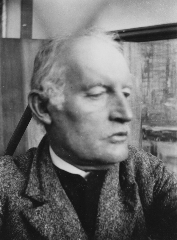 1930 Self-Portrait in front of Death of Marat I, Ekely © Tate, London
